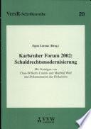 Karlsruher Forum 2002 - Schuldrechtsmodernisierung