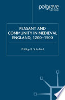 Peasant and Community in Medieval England  1200 1500