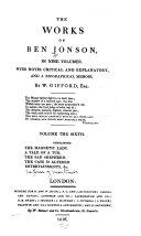 download ebook the works of ben jonson pdf epub