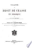 Traite Du Droit De Chasse En Belgique