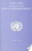 Annuaire des Nations Unies sur le Désarmement 2006