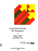 Legal interviewing for paralegals