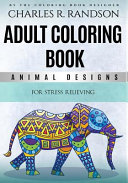 Adult Coloring Book Animal Designs