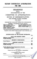 Military Construction Appropriations For 1996 Justification Of The Budget Estimates Navy And Marine Corps Reserve Components Defense Agencies North Atlantic Treaty Organization Security Investment Program