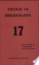 French VII Bibliography 17 Volume IV Number 2 Issue no. 17