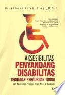 Aksesibilitas Penyandang Disabilitas terhadap Perguruan Tinggi   Studi Kasus di Empat Perguruan Tinggi Negeri di Yogyakarta
