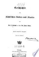 Geschichte Des Sächsischen Volkes Und Staates,