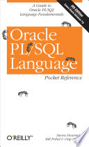 Oracle PL SQL Language Pocket Reference
