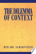 The Dilemma of Context Book PDF