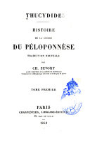 Histoire de la guerre du Péloponnèse