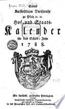 Seiner Churfürstlichen Durchleucht zu Pfalz etc. Hof- und Staats-Kalender