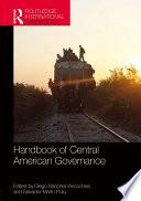 Handbook of Central American Governance Book PDF