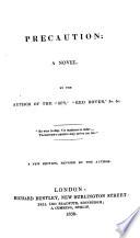 Precaution  a novel  By J  Fenimore Cooper