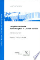 Convention Europ?enne en Mati?re D'adoption Des Enfants (r?vis?e)