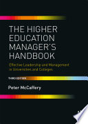 The Higher Education Manager s Handbook