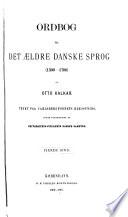 Ordbog til det ældre danske sprog (1300-1700)