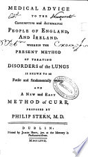 Medical Advice To The Consumptive And Asthmatic People Of England And Ireland