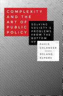 Complexity And The Art Of Public Policy book