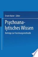Psychoanalytisches Wissen