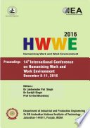 Humanizing work and work Environment (HWWE 2016)