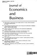 Economics and Business  Volume 31  Number 1