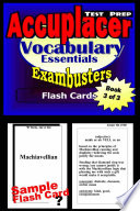 Accuplacer Test Prep Vocabulary Review  Exambusters Flash Cards  Workbook 3 of 3