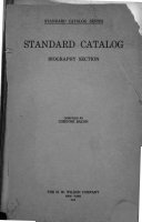 Standard Catalog: Biography Section