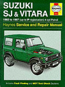 Suzuki SJ   Vitara 1982 to 1997  up to P Registration  4 cyl Petrol