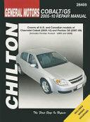Chilton S General Motors Chevrolet Cobalt And Pontiac G5