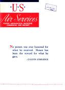 U S  Air Services  Devoted to the Development of Aeronautics