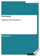 England unter Elizabeth I.