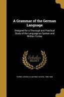 GRAMMAR OF THE GERMAN LANGUAGE