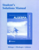 Student s Solutions Manual for Elementary and Intermediate Algebra