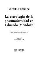La Estrategia de La Postmodernidad En Eduardo Mendoza