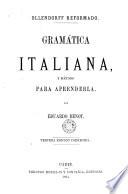 Gram  tica italiana y m  todo para aprenderla