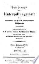 Belehrungs  und Unterhaltungsblatt f  r den Landmann und kleinen Gewerbsmann B  hmens