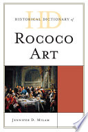 Historical Dictionary of Rococo Art Pdf/ePub eBook