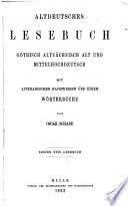 Altdeutsches Lesebuch