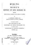More s History of King Richard III