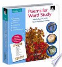 Poems for Word Study  Grades 1 2