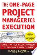 The One Page Project Manager for Execution