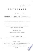 A Dictionary of the German and English Languages