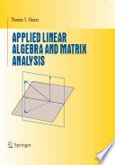 Applied Linear Algebra and Matrix Analysis