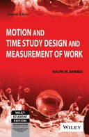 Motion And Time Study Design And Measurement Of Work  7Th Ed