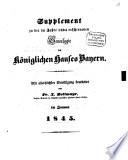 Supplement zu der im Jahre 1834 erschienenen Genealogie des Königlichen Hauses Bayern