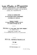 Revue de la société d'études et d'expansion
