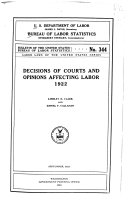 Decisions of Courts and Opinions Affecting Labor