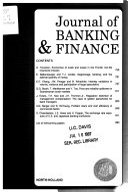 Journal of banking   finance
