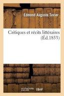 Critiques Et Recits Litteraires