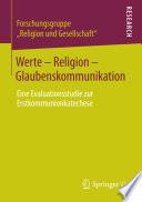 Werte - Religion - Glaubenskommunikation